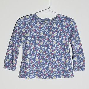 Baby Boden Purple Floral Shirt 12-18m